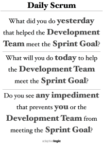 Daily Scrum Poster